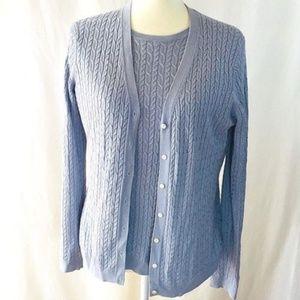 Brooks Brothers Womens Sweater Set Size Medium